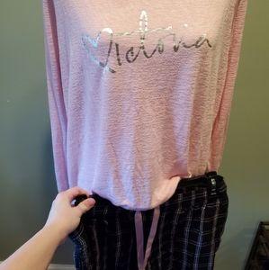Victoria's Secret Sleepwear Set Pink Black & White